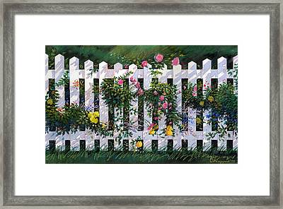 Country Fence Framed Print by Valer Ian