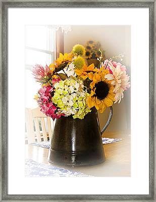 Country Flower Bouquet Framed Print