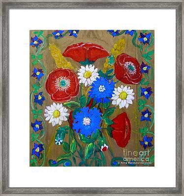 Country Flowers Framed Print by Anna Folkartanna Maciejewska-Dyba