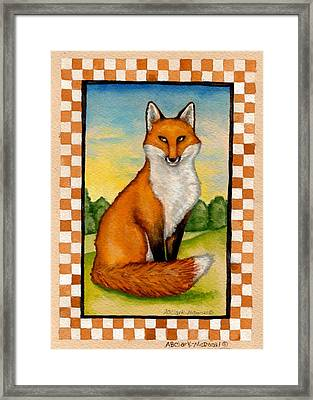 Country Fox Framed Print