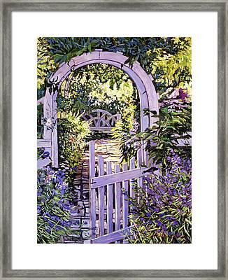 Country Garden Gate Framed Print
