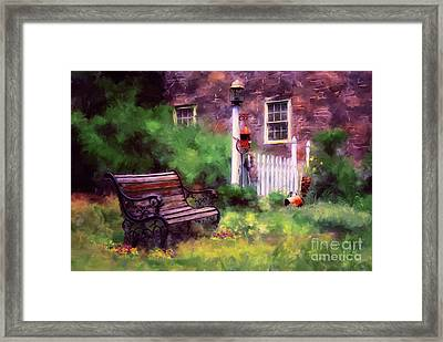 Country Garden Framed Print by Lois Bryan