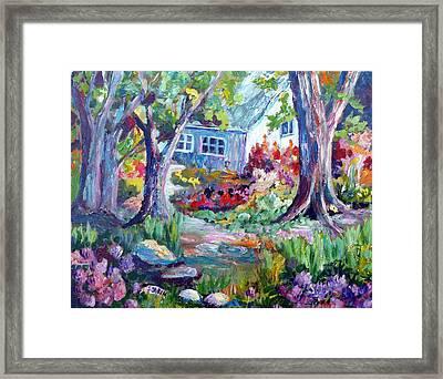 Country Garden Framed Print by Saga Sabin