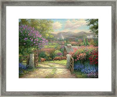 Country Gate Framed Print by Chuck Pinson