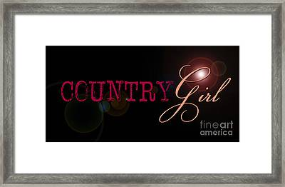 Country Girl Framed Print by Liesl Marelli