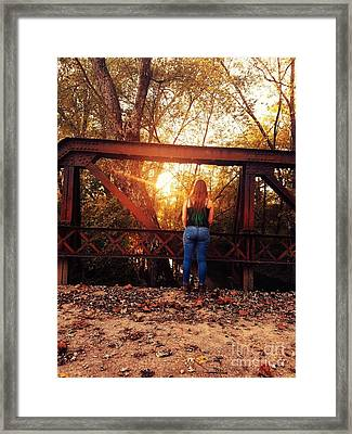 Country Girl Sunset Framed Print by Scott D Van Osdol