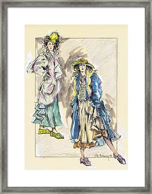 Country Girls Or Chicas Del Campo Framed Print by Jill Bennett