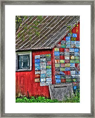 Country Graffiti Framed Print