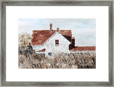 Country Home Framed Print by Monte Toon