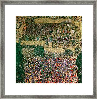 Country House By The Attersee Framed Print by Gustav Klimt