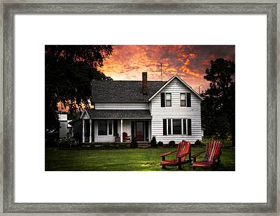 Country House Framed Print by Debra and Dave Vanderlaan