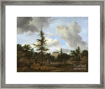 Country House In A Park Framed Print