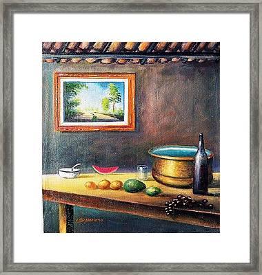Country House Framed Print by Leomariano artist BRASIL