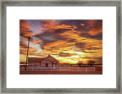 Country House Sunset Longmont Colorado Boulder County Framed Print by James BO  Insogna