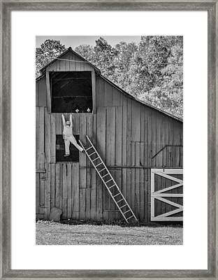 Country Humor - Bw Framed Print by Steve Harrington