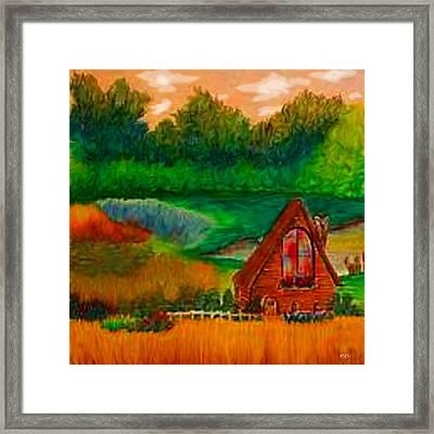 Country Framed Print by Karen R Scoville