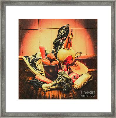 Country Kitchen Art Framed Print