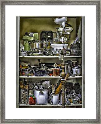 Country Kitchen Pantry Framed Print