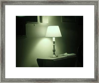 Country Lamp Framed Print by Florene Welebny