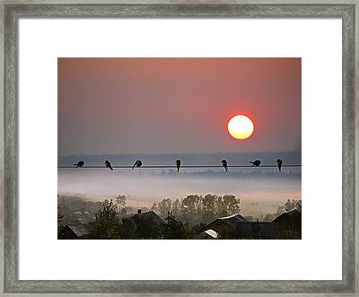 Framed Print featuring the photograph Country Landscape by Vladimir Kholostykh