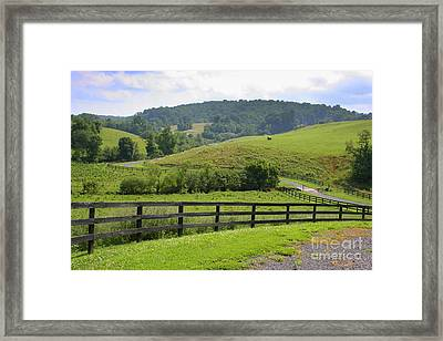 Country Lane Framed Print by Julie Lueders