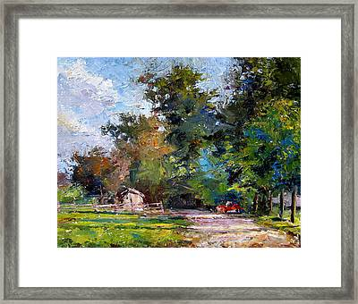 Country Lane Framed Print by Mark Hartung