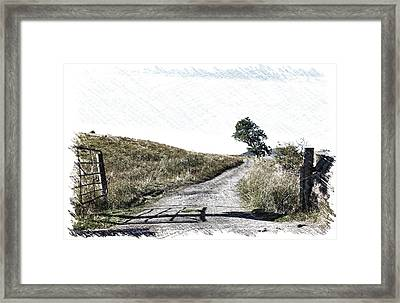 Country Lane Framed Print by RKAB Works