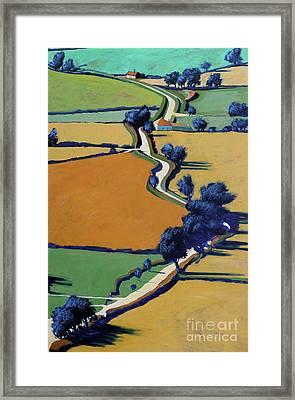 Country Lane Spring Framed Print