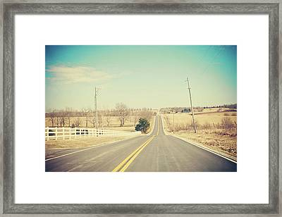 Country Lanes Framed Print by Allison Ruiz