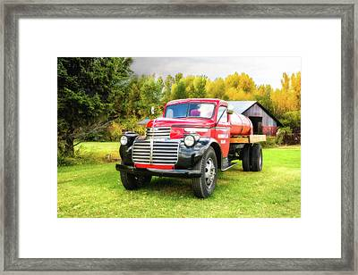 Country Life - 1946 Gmc Truck Framed Print