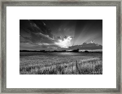 Country Life B/w Framed Print