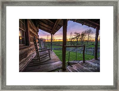 The Sitting Place Framed Print