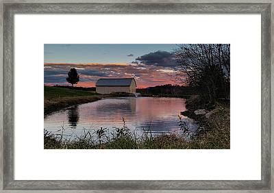 Country Living Sunset Framed Print