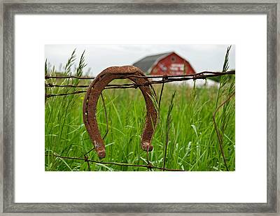 Country Luck Framed Print by Maria Dryfhout
