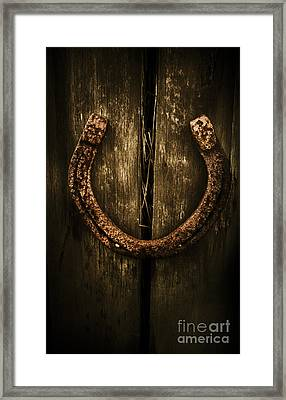 Country Luck Framed Print
