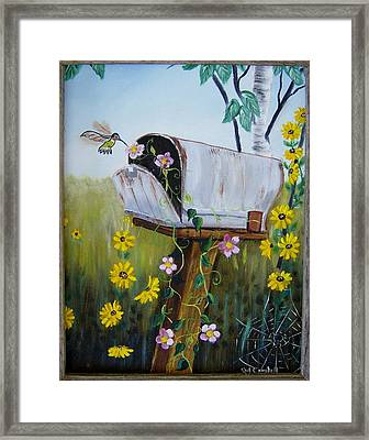 Country Mailbox Framed Print