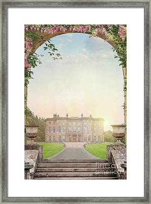 Framed Print featuring the photograph Country Mansion At Sunset by Lee Avison