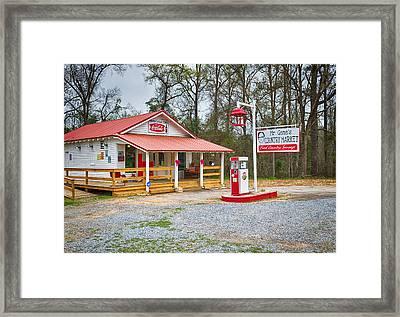 Country Market Framed Print by Kim Hojnacki