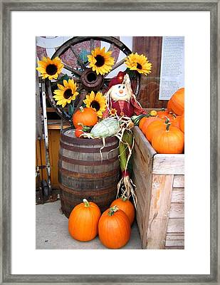 Country Market Framed Print by Will Borden