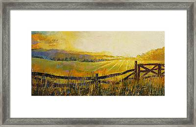 Country Meadow Framed Print by Michael Creese