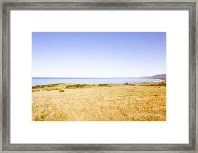 Country Meets Ocean  Framed Print by Jorgo Photography - Wall Art Gallery