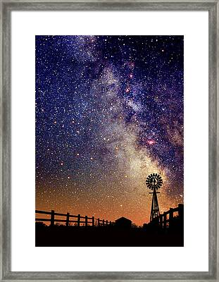Country Milky Way Framed Print