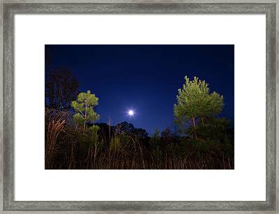Country Moon Framed Print by Mark Andrew Thomas