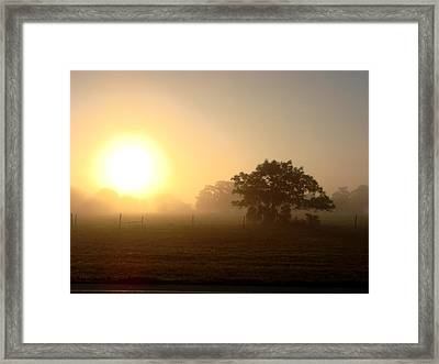 Country Morning Sunrise Framed Print by Kimberly Camacho