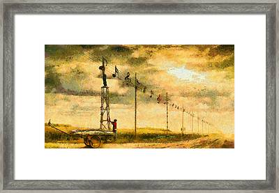 Country Musician - Da Framed Print by Leonardo Digenio