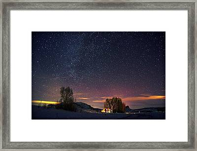 Country Night Life Framed Print