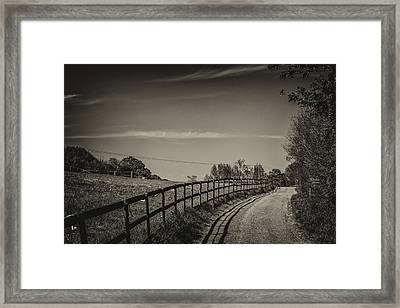 Country Path Framed Print by Martin Newman