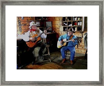 Country Pickin Framed Print