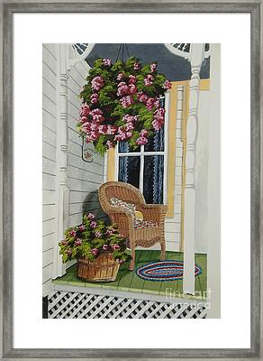 Country Porch Framed Print by Charlotte Blanchard