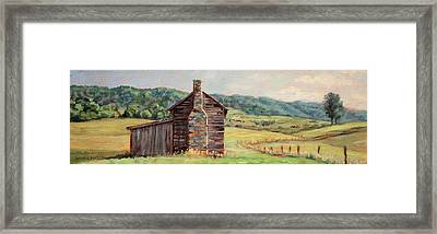 Country Quiet _ Rocky Gap Virginia Framed Print